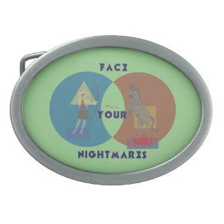 Face Your Nightmares Belt Buckle