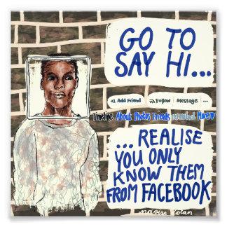 Facebook Acquaintance Photo Print