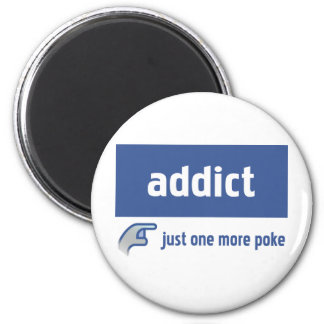 Facebook addict 2 inch round magnet