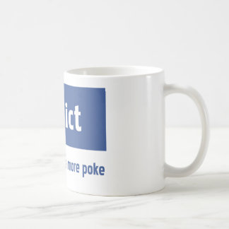 Facebook addict coffee mug