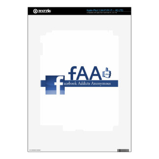 Facebook Addicts Anonymous iPad 3 Decals
