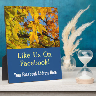 Facebook Address Here signs counter plaques Autumn