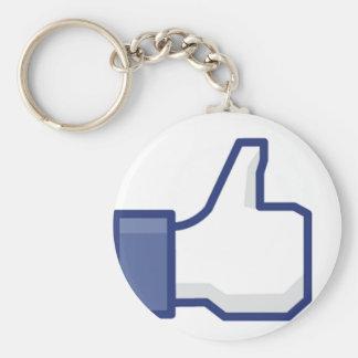 Facebook Basic Round Button Keychain