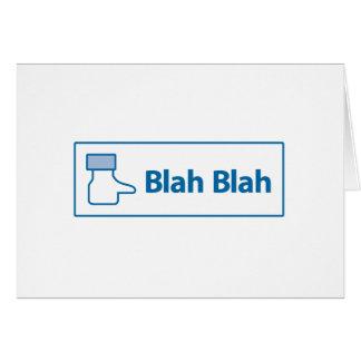 Facebook Blah Blah Greeting Card