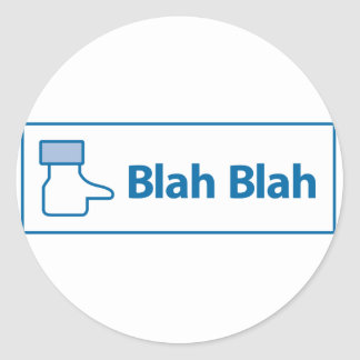 Facebook Blah Blah Classic Round Sticker