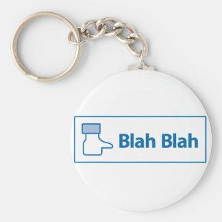 Facebook Blah Blah Keychain