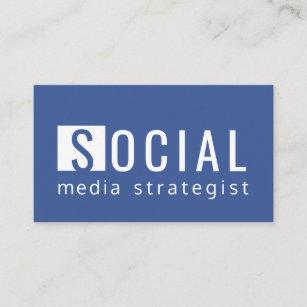 Facebook business cards zazzle facebook blue social media strategist blogger business card colourmoves