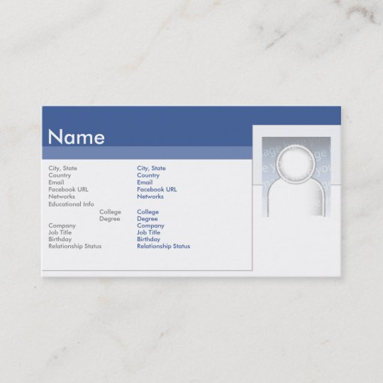 facebook business business card zazzle com
