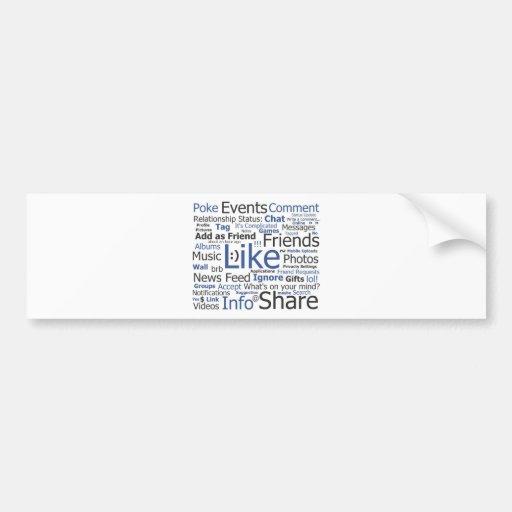 Facebook Car Bumper Sticker