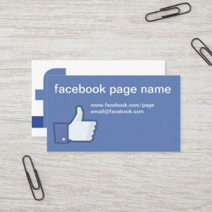 Facebook business cards zazzle facebook cc0059 business card colourmoves