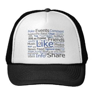 Facebook - como, empuje, marcado con etiqueta, ami gorro