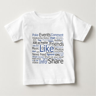 Facebook - como, empuje, marcado con etiqueta, playera de bebé