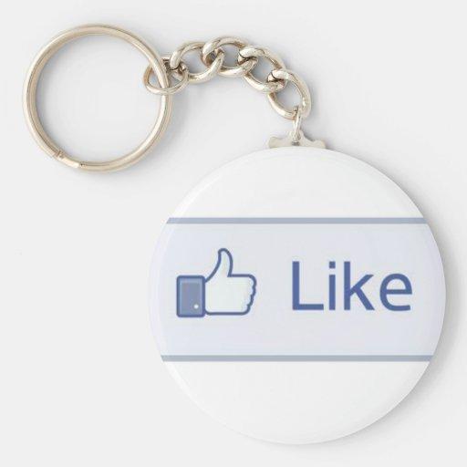 "Facebook ""como"" llavero"
