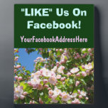 """Facebook Counter Sign Plaques Blossoms LIKE Us On<br><div class=""""desc"""">Facebook Counter Sign Plaques Blossoms LIKE Us On Facebook Plaque BLOSSOMS Custom nature plaques PINK TREE Blossoms FLORAL gifts, custom retails counter Plaques PINK Blossoms Floral plaque signs. Thank you for Liking and Sharing our Art Gift Site with your family, friends and coworkers. Bookmark this site for great Nature Floral...</div>"""