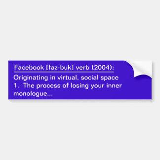 Facebook Definition Bumper Sticker