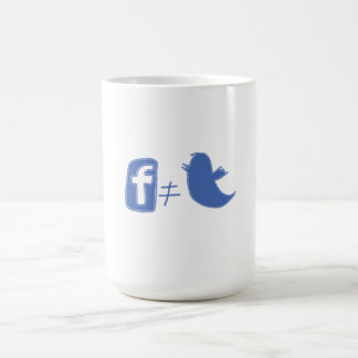 Facebook does not equal Twitter Classic White Coffee Mug