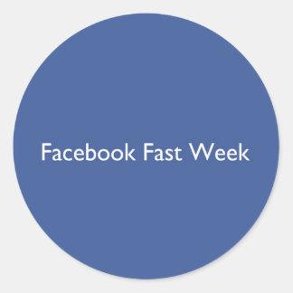 Facebook Fast Week Stickers