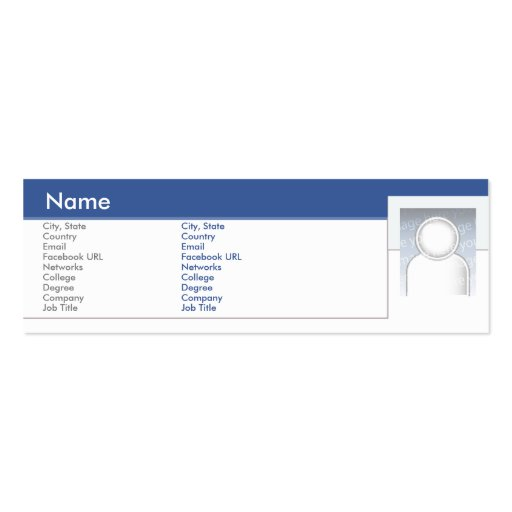 Facebook - flaco tarjetas de visita mini