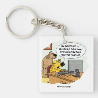 Facebook for Dogs Acrylic Keychain
