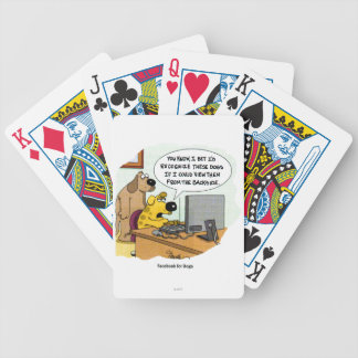Facebook for Dogs Bicycle Playing Cards
