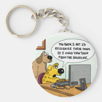 Facebook for Dogs Keychain