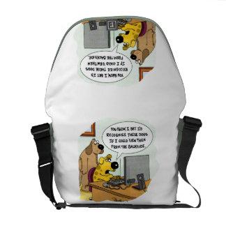 Facebook for Dogs Messenger Bag