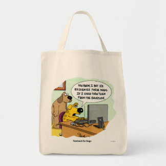 Facebook for Dogs Tote Bag