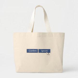Facebook Friend Request Jumbo Tote Bag
