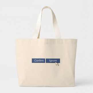 Facebook Friend Request Large Tote Bag