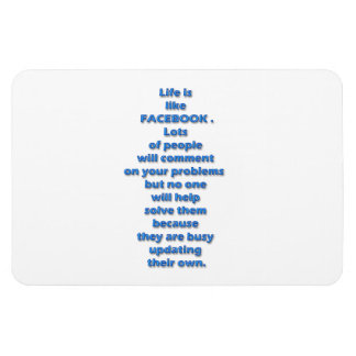 Facebook funny text rectangular photo magnet