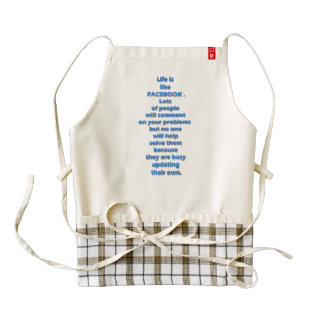 Facebook funny text zazzle HEART apron