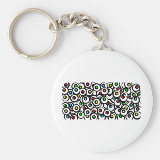 Facebook Graffiti Basic Round Button Keychain
