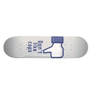 Facebook hand don't like cops funny skateboard