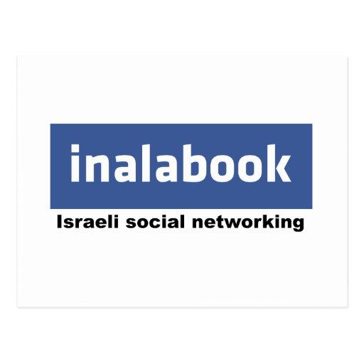 facebook israelí - inalabook postal