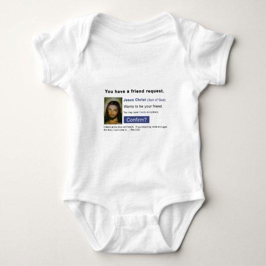 Facebook jesus baby bodysuit