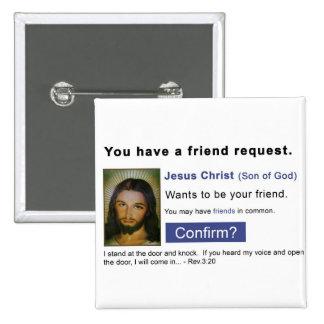Facebook jesus button