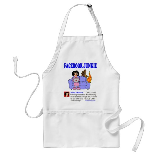 FACEBOOK JUNKIE ADULT APRON