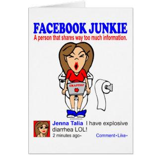 FACEBOOK JUNKIE GREETING CARD