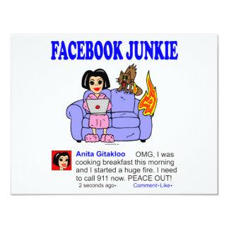 FACEBOOK JUNKIE PERSONALIZED INVITATION