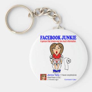 FACEBOOK JUNKIE KEYCHAIN