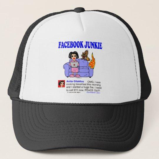 FACEBOOK JUNKIE TRUCKER HAT