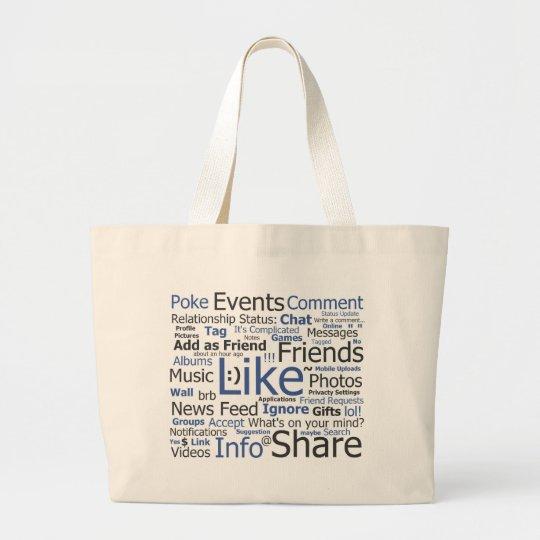Facebook Large Tote Bag