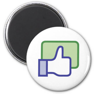 Facebook Like Button 2 Inch Round Magnet