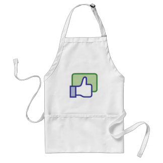 Facebook Like Button Adult Apron