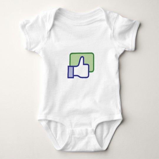 Facebook Like Button Baby Bodysuit