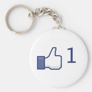 facebook like button basic round button keychain