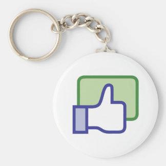 Facebook Like Button Keychain