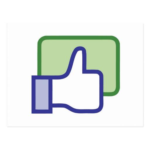 Facebook Like Button Postcard