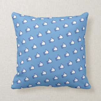 Facebook Like Icon Pattern Pillow