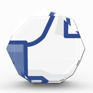 facebook LIKE me thumb up! Award